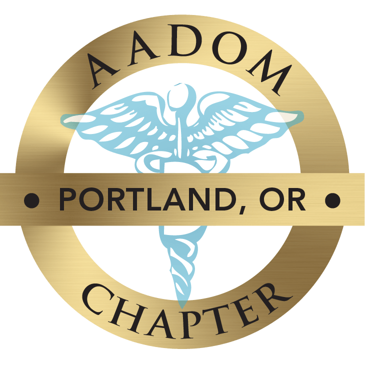 The AADOM Portland Chapter official logo